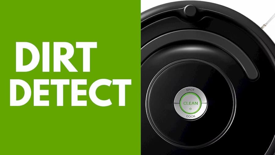 Particolare Dirt Detect iRobot Roomba 671