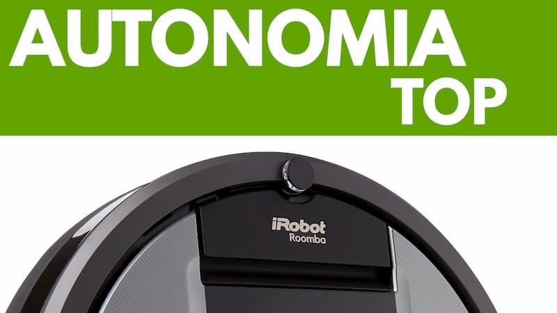Particolare autonomia iRobot Roomba 960