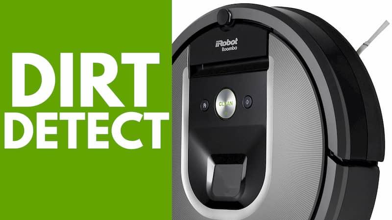 Particolare funzione Dirt Detect iRobot Roomba 960