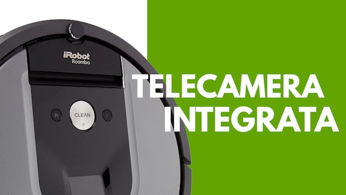 Particolare telecamera iRobot Roomba 960