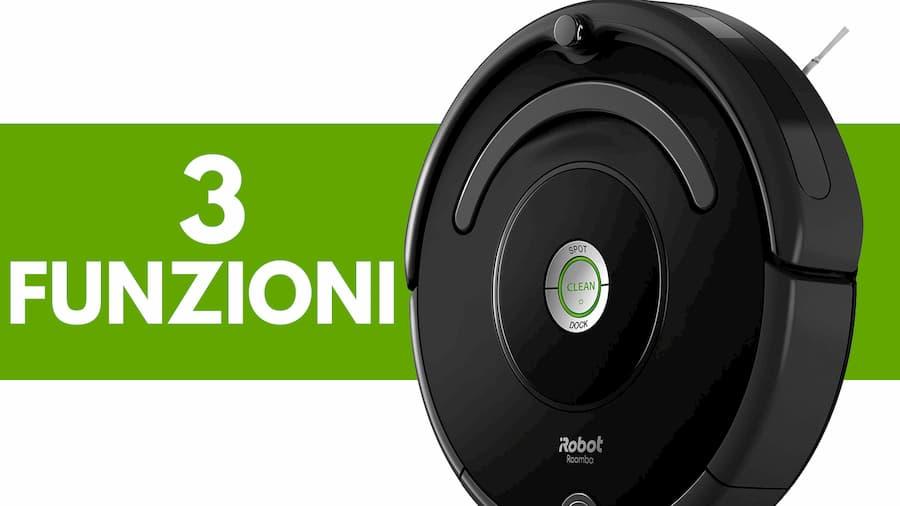 Particolare tre funzioni iRobot Roomba 671