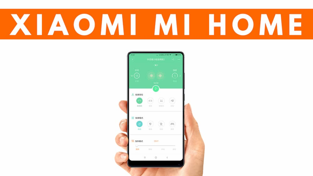 Particolare app Xiaomi Mi Home aspirapolvere robot