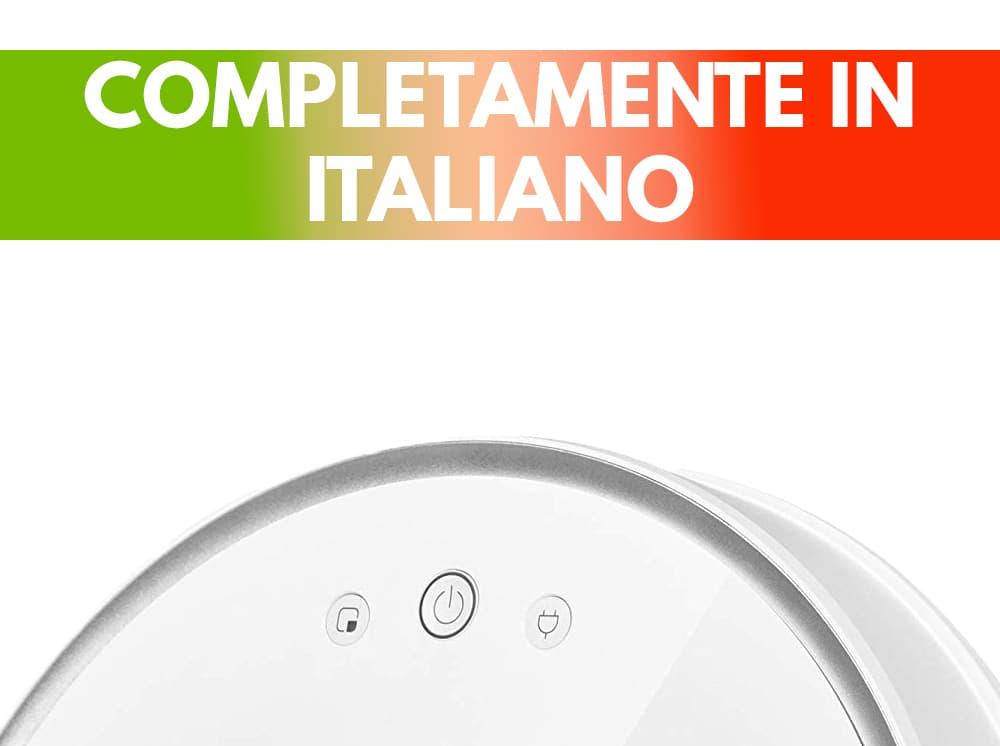 Particolare app italiano Xiaomi Roborock S50 robot aspirapolvere