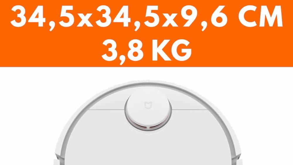 Particolare dimensioni peso Xiaomi Robot SDJQR02RR aspirapolvere robot