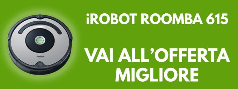 iRobot Roomba 615 robot aspirapolvere banner