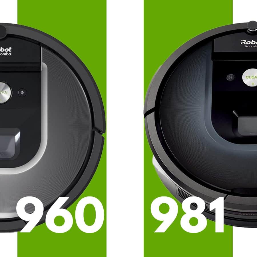 Confronto iRobot Roomba 981 iRobot Roomba 960 robot aspirapolvere