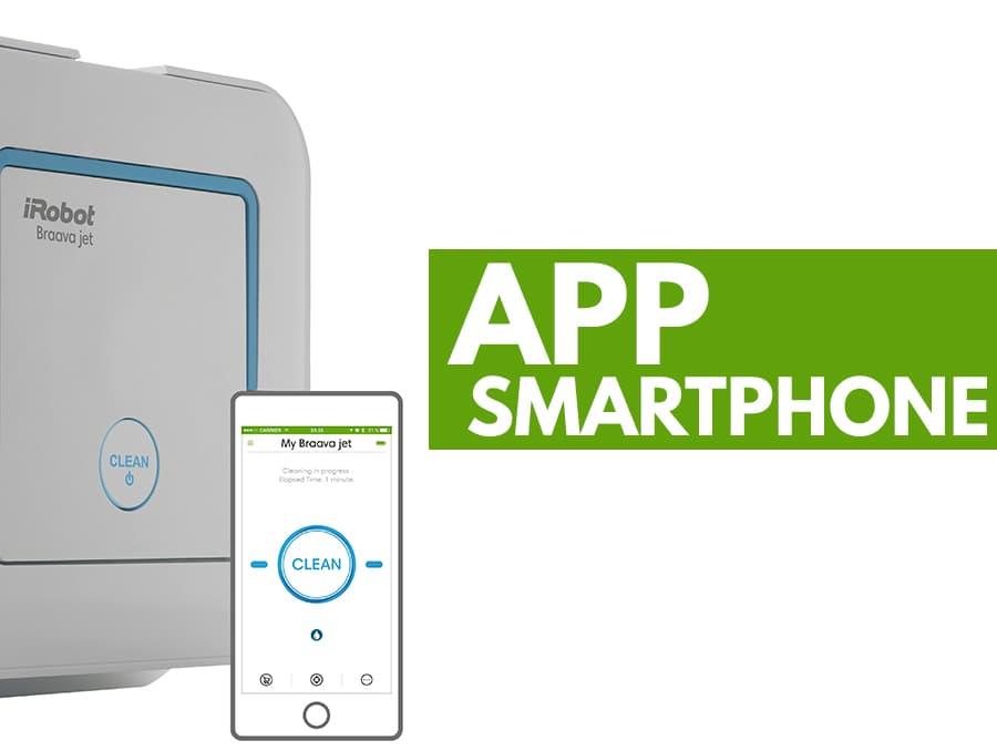 app smartphone robot aspirapolvere iRobot Braava Jet 240