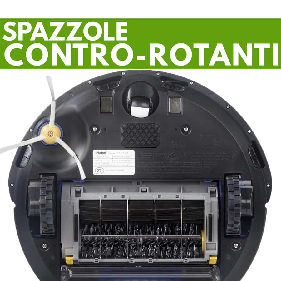 aspirapolvere robot iRobot Roomba 615 spazzole controrotanti