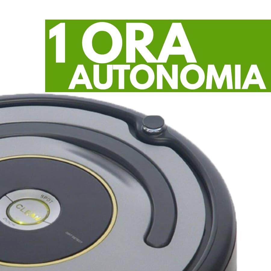 autonomia iRobot Roomba 615 robot aspirapolvere