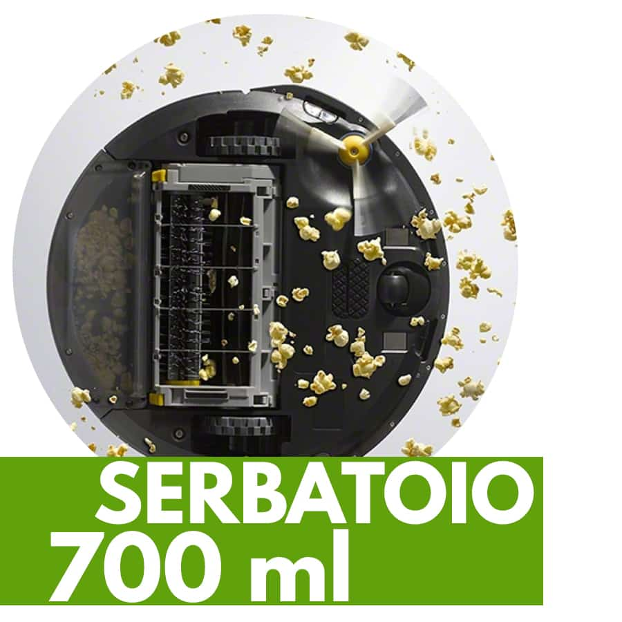 capacità serbatoio robot aspirapolvere iRobot Roomba 615