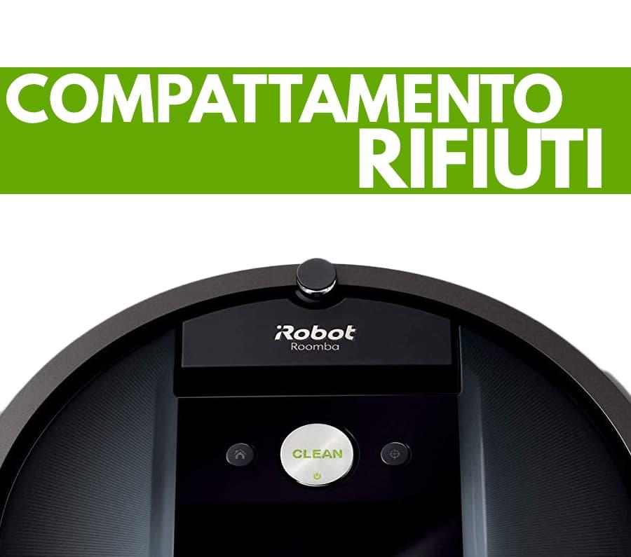 compattamento rifiuti iRobot Roomba 981