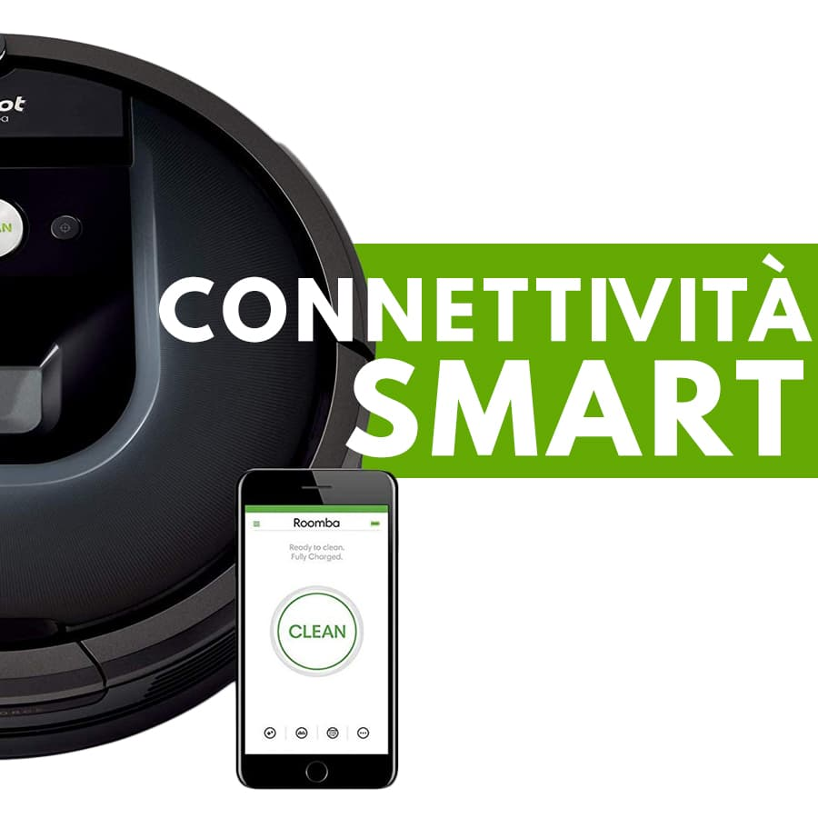 connettività smart iRobot Roomba 981 robot aspirapolvere