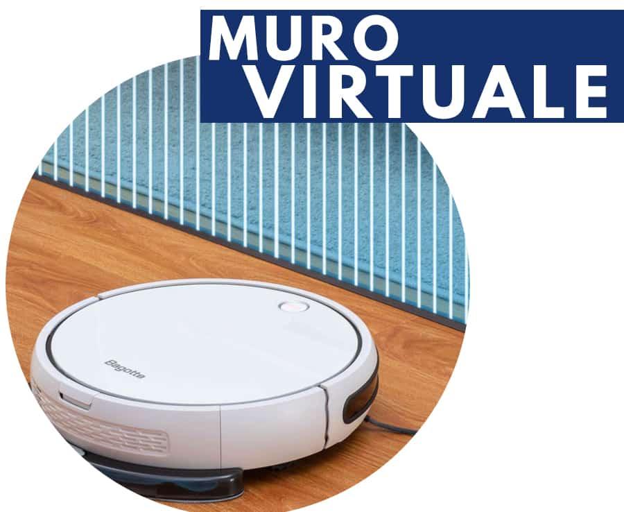 muro virtuale robot aspirapolvere Bagotte i7
