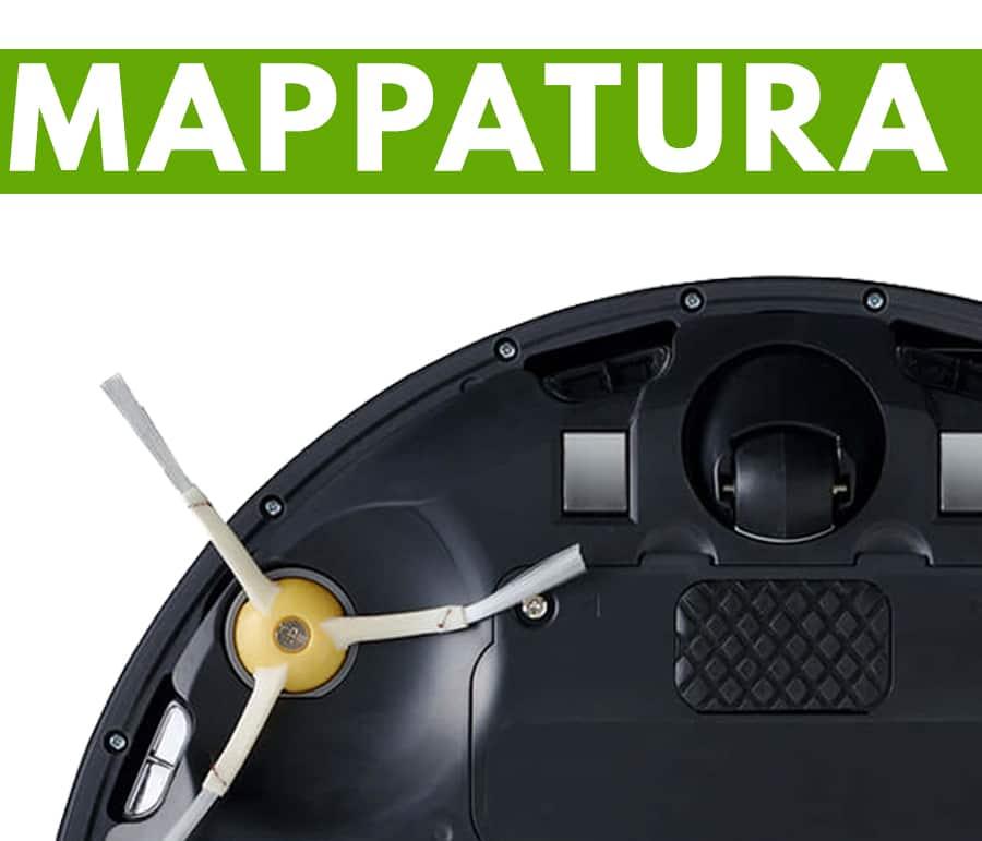 sistema mappatura iRobot Roomba 981 robot aspirapolvere