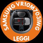 Samsung VR10M703IWG miniatura robot aspirapolvere