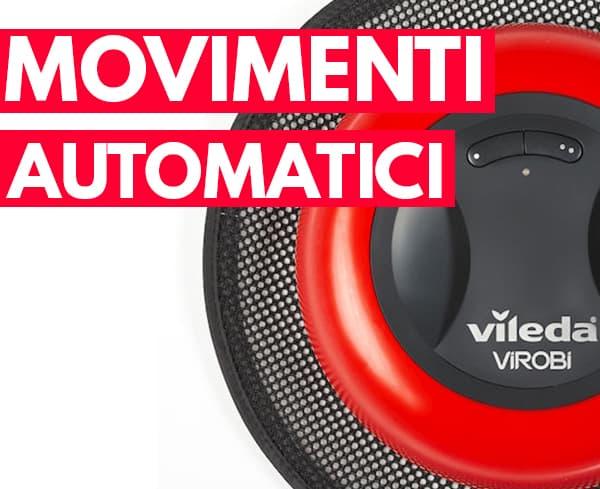 cambio direzione automatico robot aspirapolvere Vileda Virobi