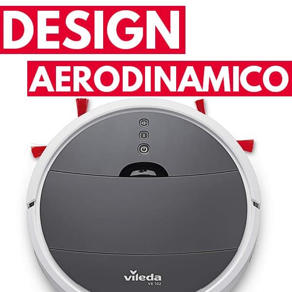 design aerodinamico aspirapolvere robot Vileda VR 102