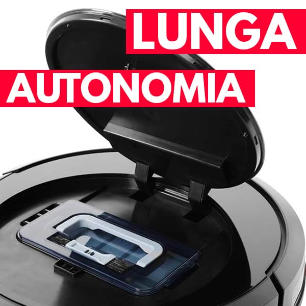 lunga autonomia aspirapolvere robot Vileda